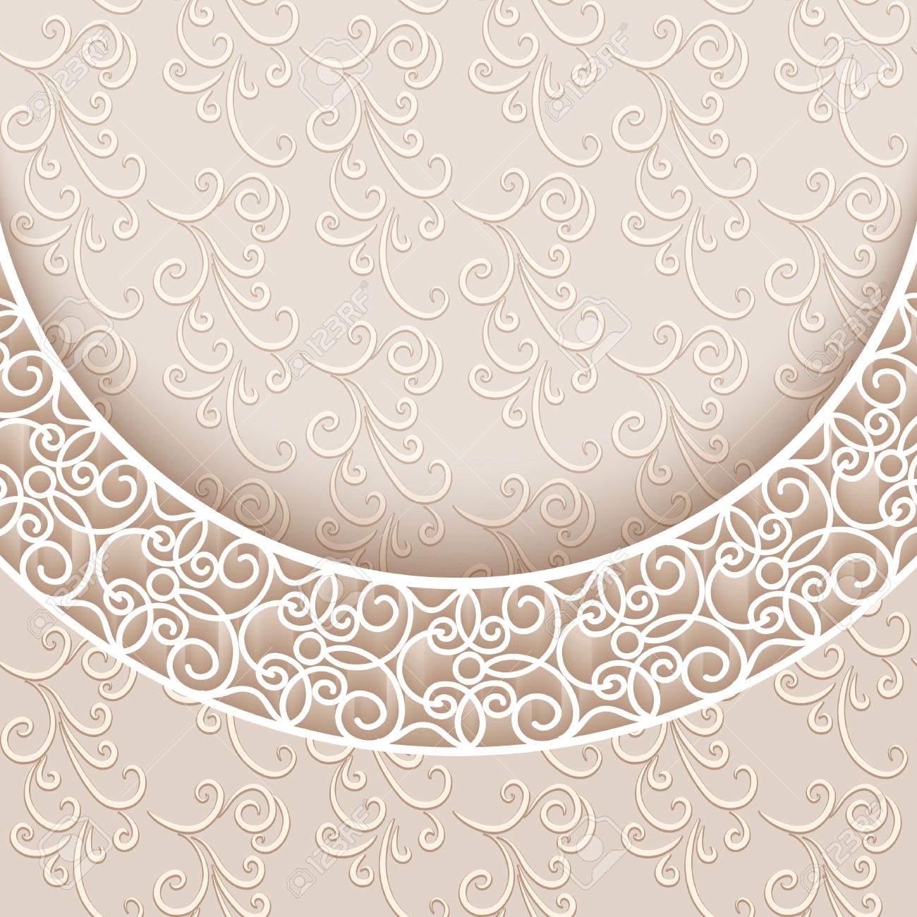 Elegant background with lace decoration, vintage greeting card or invitation template - 52369613