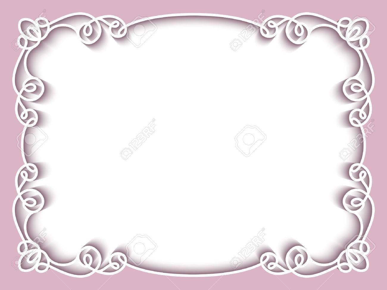 Bien connu Rectangle Cadre De Dentelle De Papier, Carte De Voeux Ou De  II79