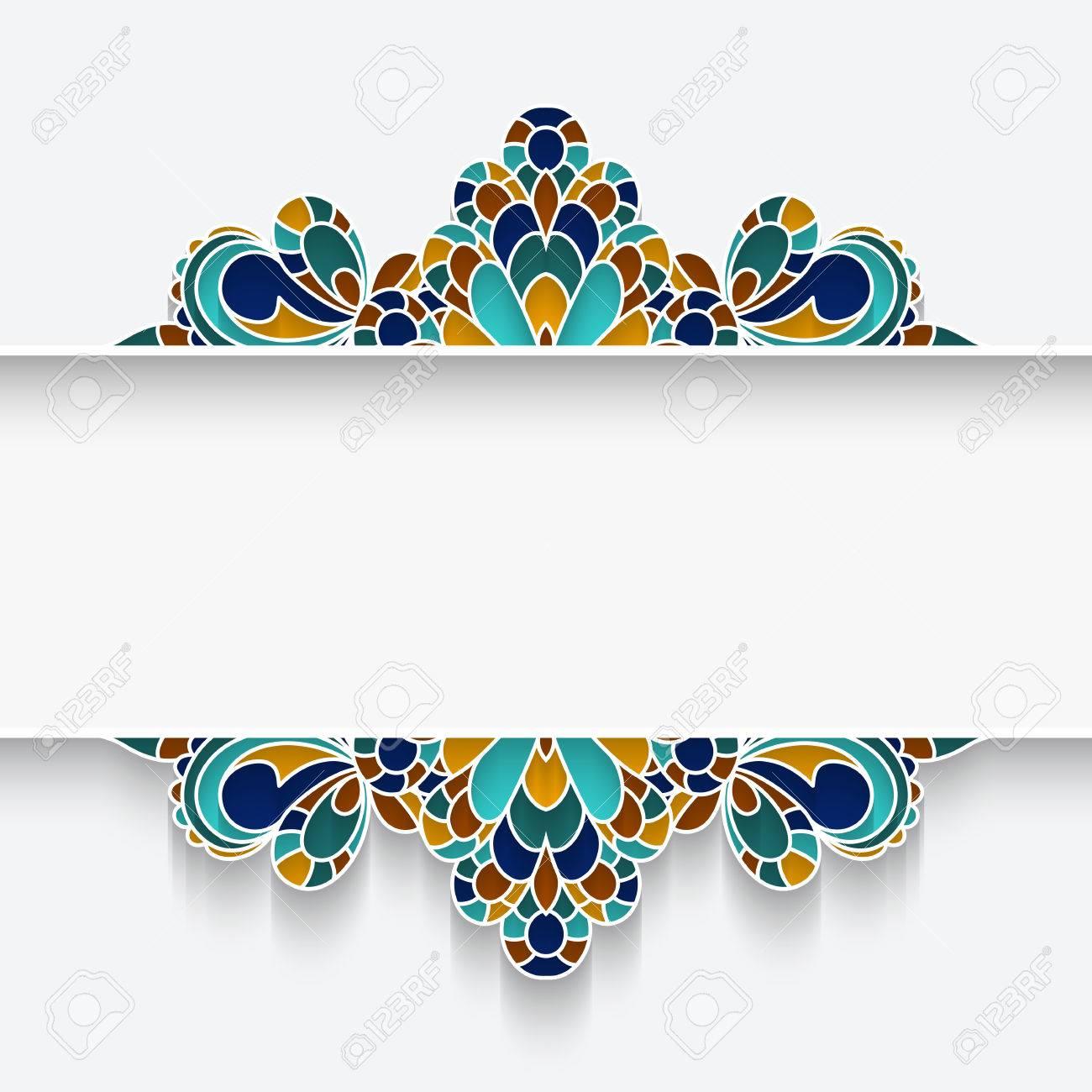 Marco De Mayólica Mosaico Con Bordes De Colores, Divisor, De Cabeza ...