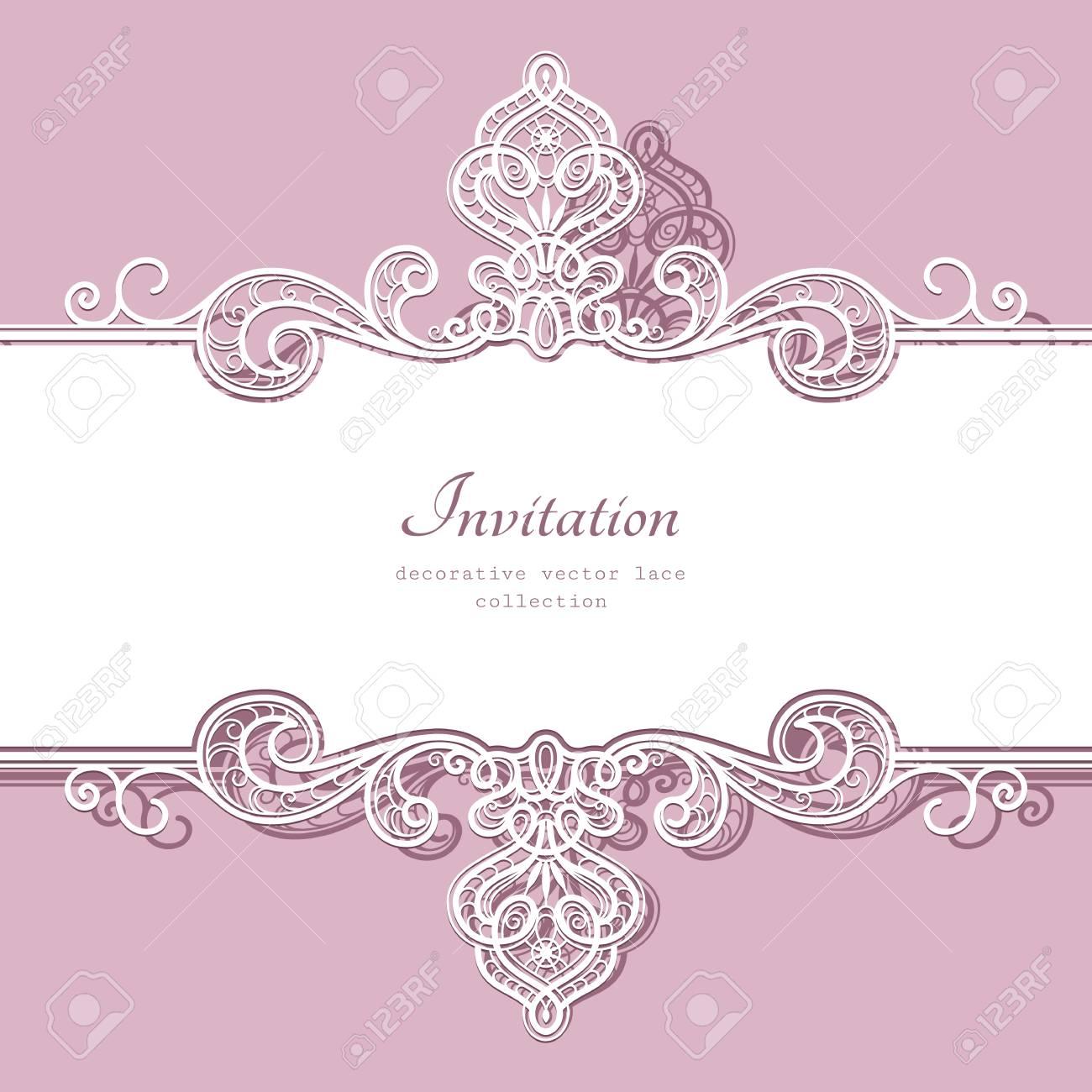 Fondo Elegante Con El Ornamento Del Cordón Fronterizo, Divisor ...