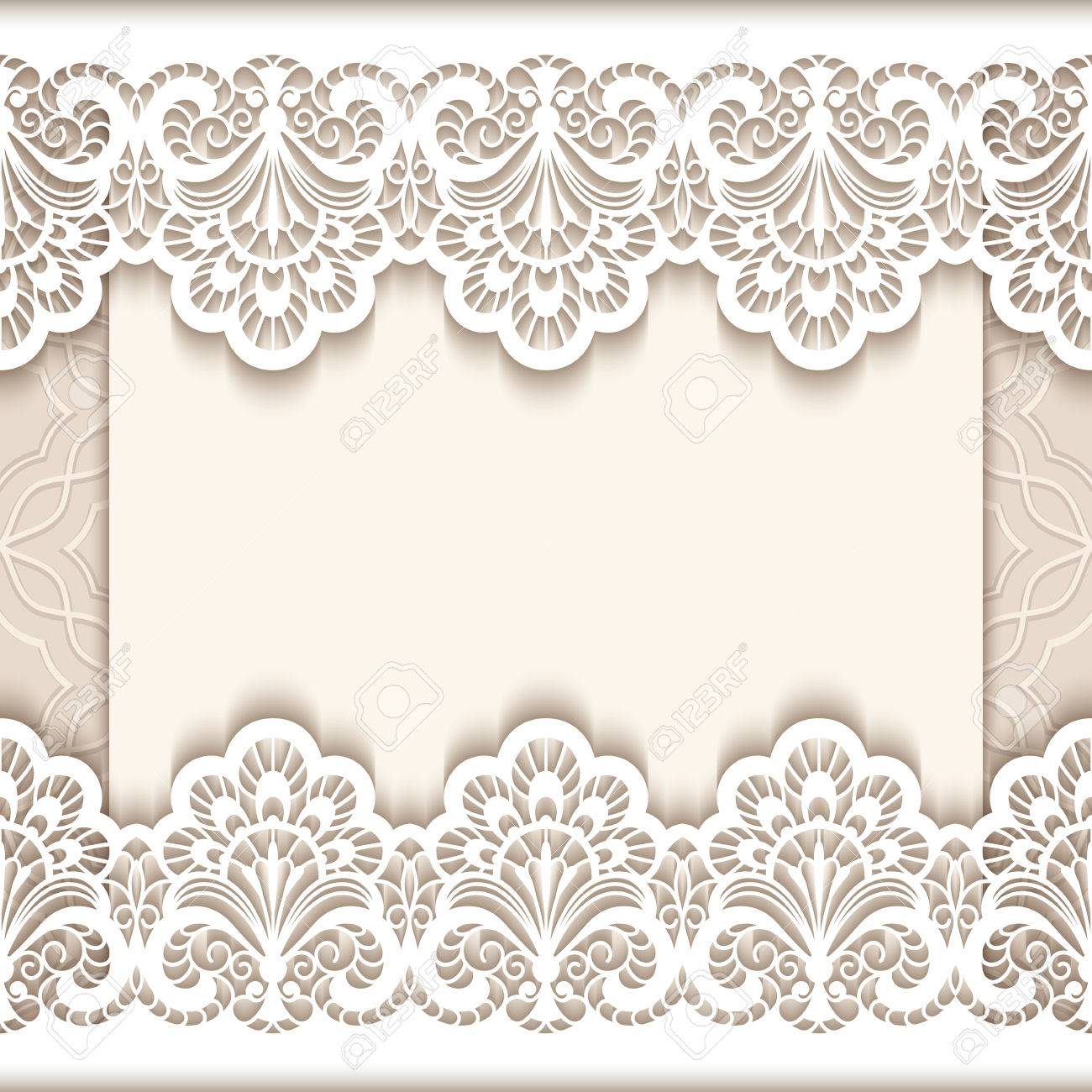 Superb Elegant Save The Date Card With Cutout Paper Lace Borders, Vintage Wedding  Invitation Or Announcement