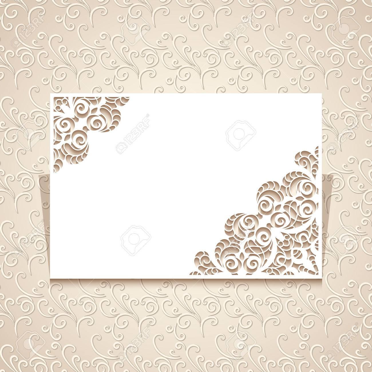 Rechteck-Ausschnitt Papier Rahmen Mit Ausschnitt Spitze Ecke ...