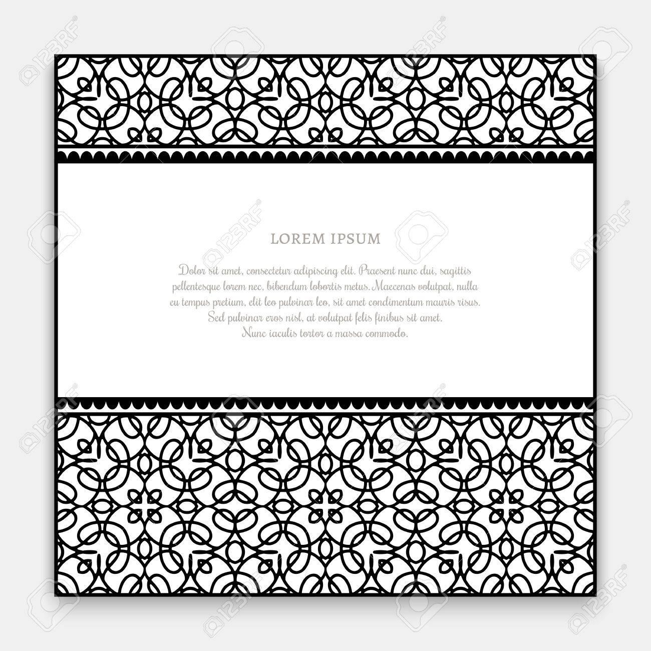 Hermosa Plantilla De Tarjeta En Blanco Ilustración - Colección De ...