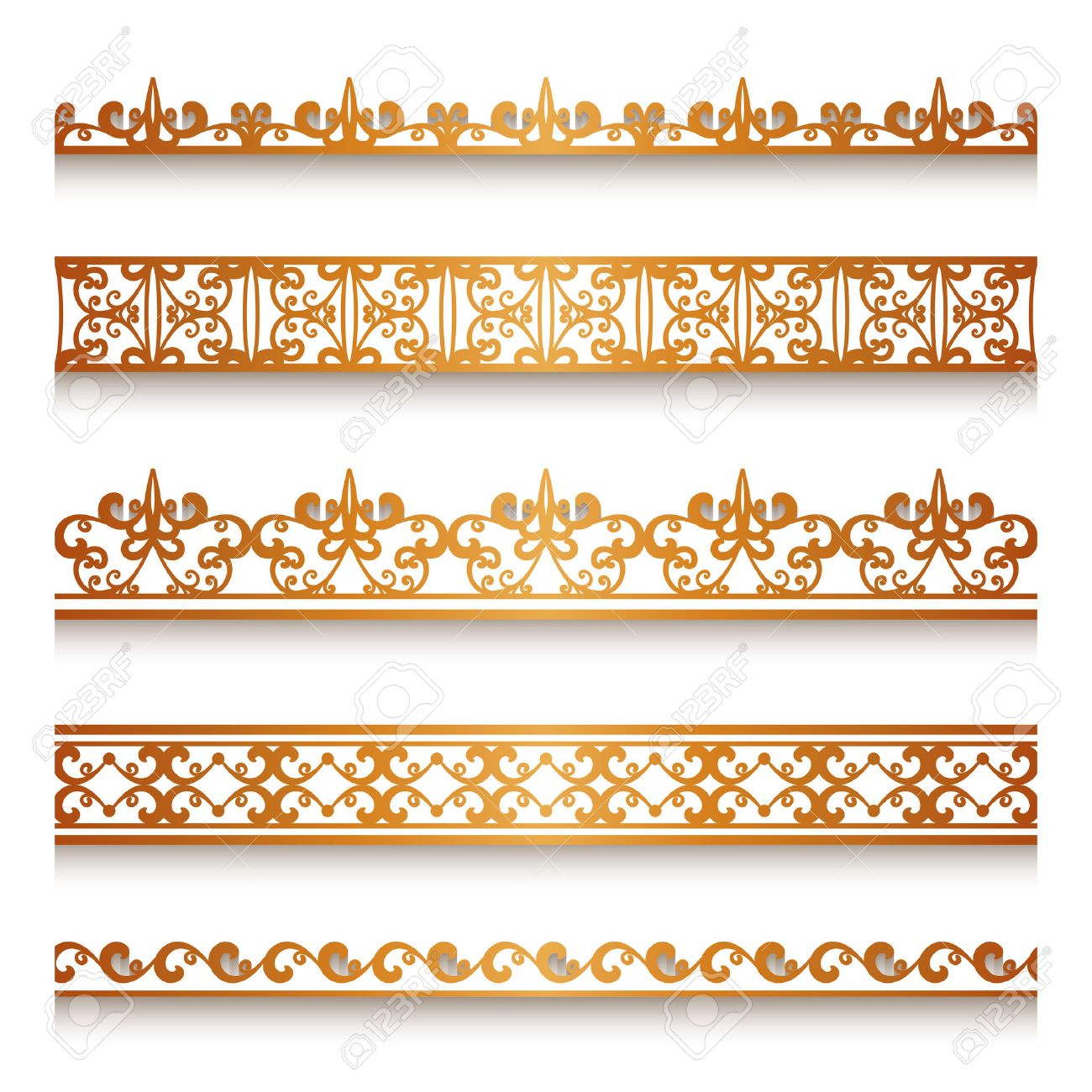 Gold Line Borders Free Wiring Diagrams Cell Led Flashlight Circuit Diagram Projects Nonstopfree Set Of Vintage Ornamental Lace Ribbons Decorative Rh 123rf Com Red