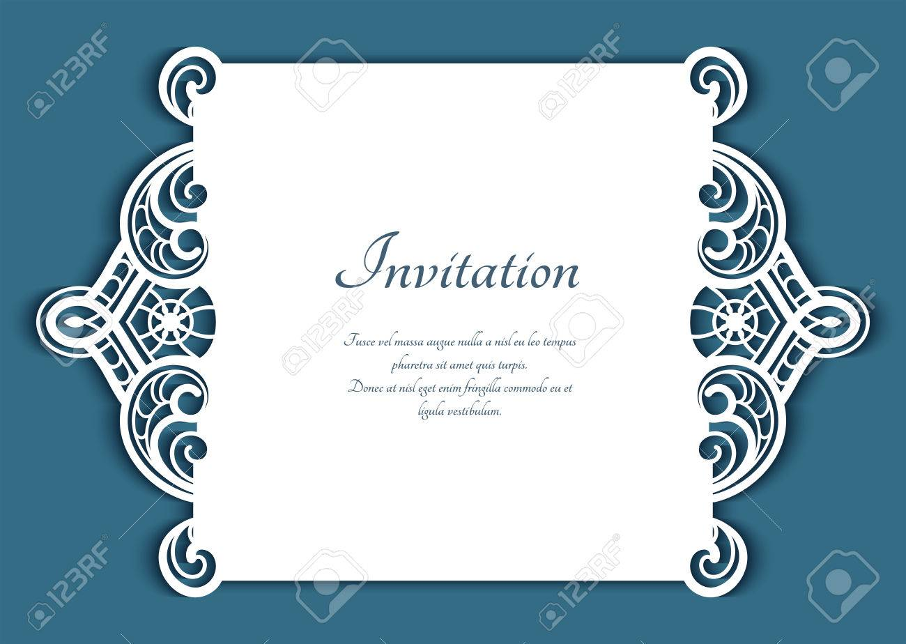 Cutout Paper Lace Frame, Greeting Card, Save The Date Or Wedding ...