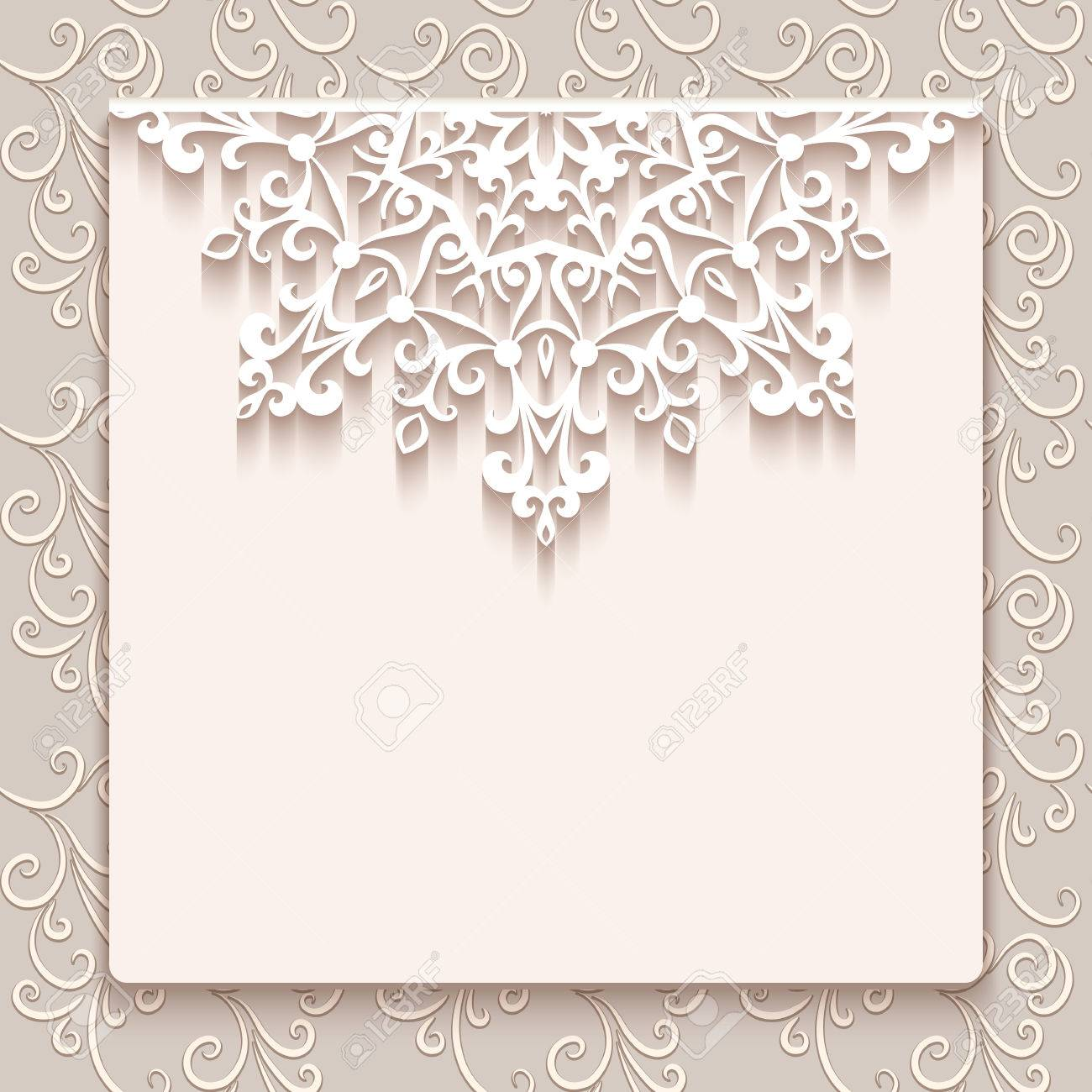 Elegant Save The Date Card With Lace Decoration Vintage Wedding Invitation Or Announcement Template Stock: Vintage Wedding Invitations With Lace At Websimilar.org