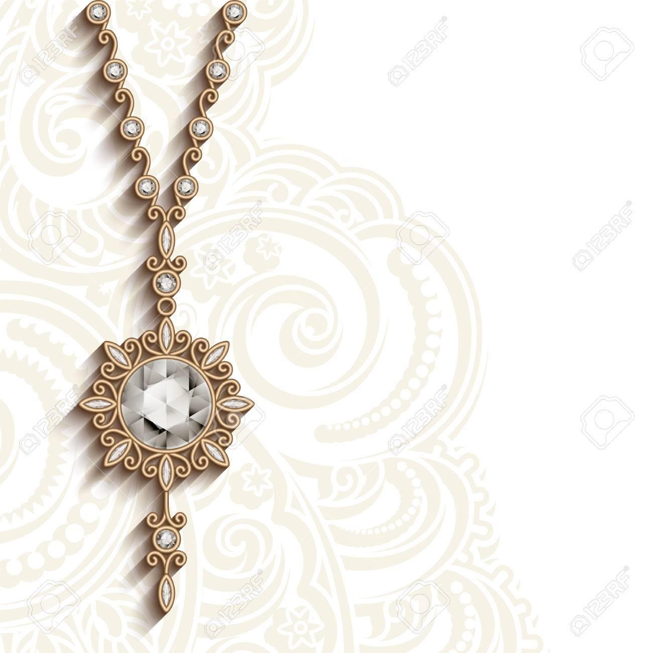 vintage gold design jewelry pendant with diamonds round jewellery