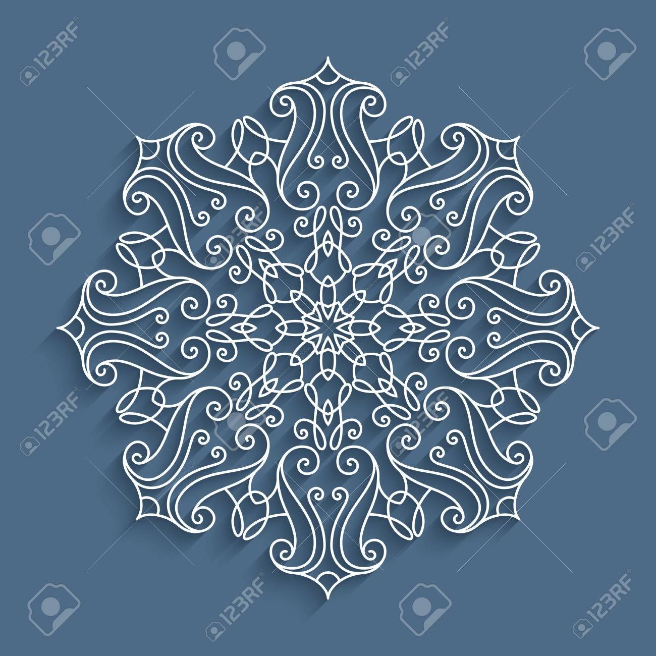 Papel De Encaje Doily, Copos De Nieve De Recorte Decorativo, Mandala ...