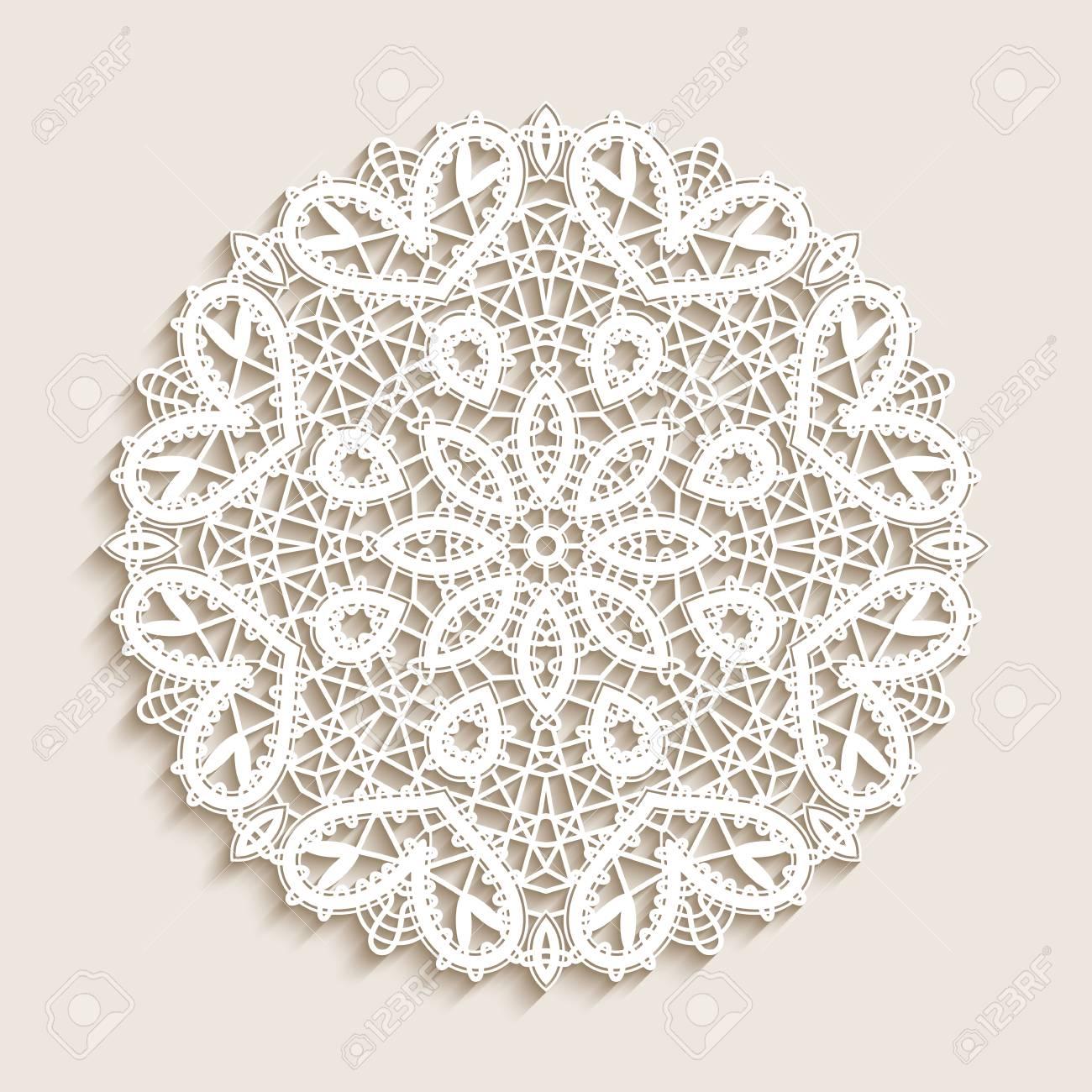 Bobbin Lace Doily Mandala Circle Ornament Round Crochet Pattern