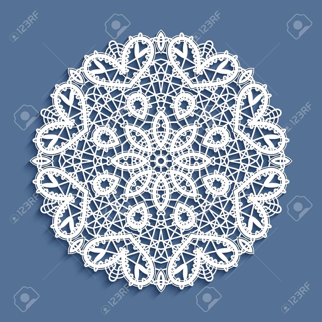 Tatting Lace Ornament Snowflake Decoration Mandala Round Crochet