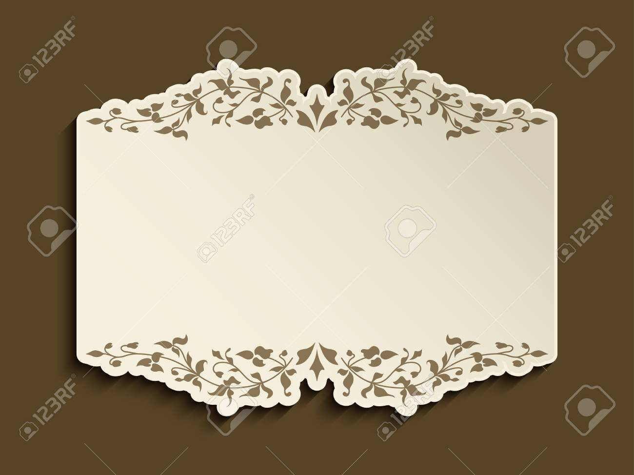 gold frame border vector.  Gold Vector  Vintage Gold Frame With Flourish Decoration And Cutout Paper Border  Vector Wedding Announcement Or Invitation Card Design Inside Gold Frame Border