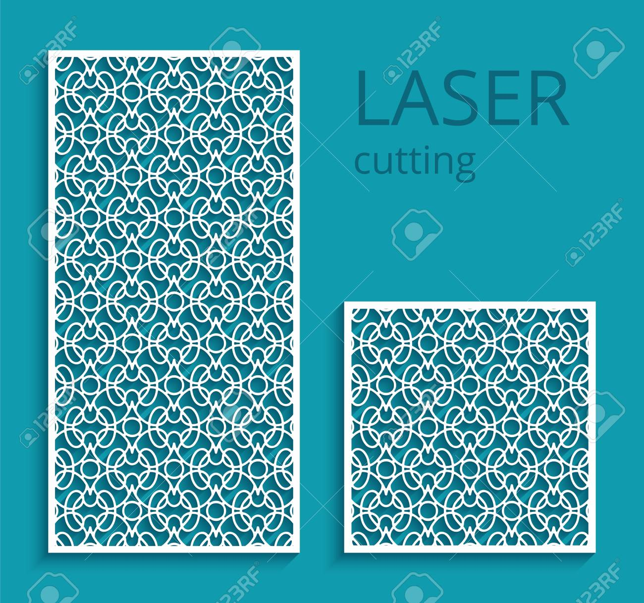 elegant panels with lace pattern swirly lattice ornament template