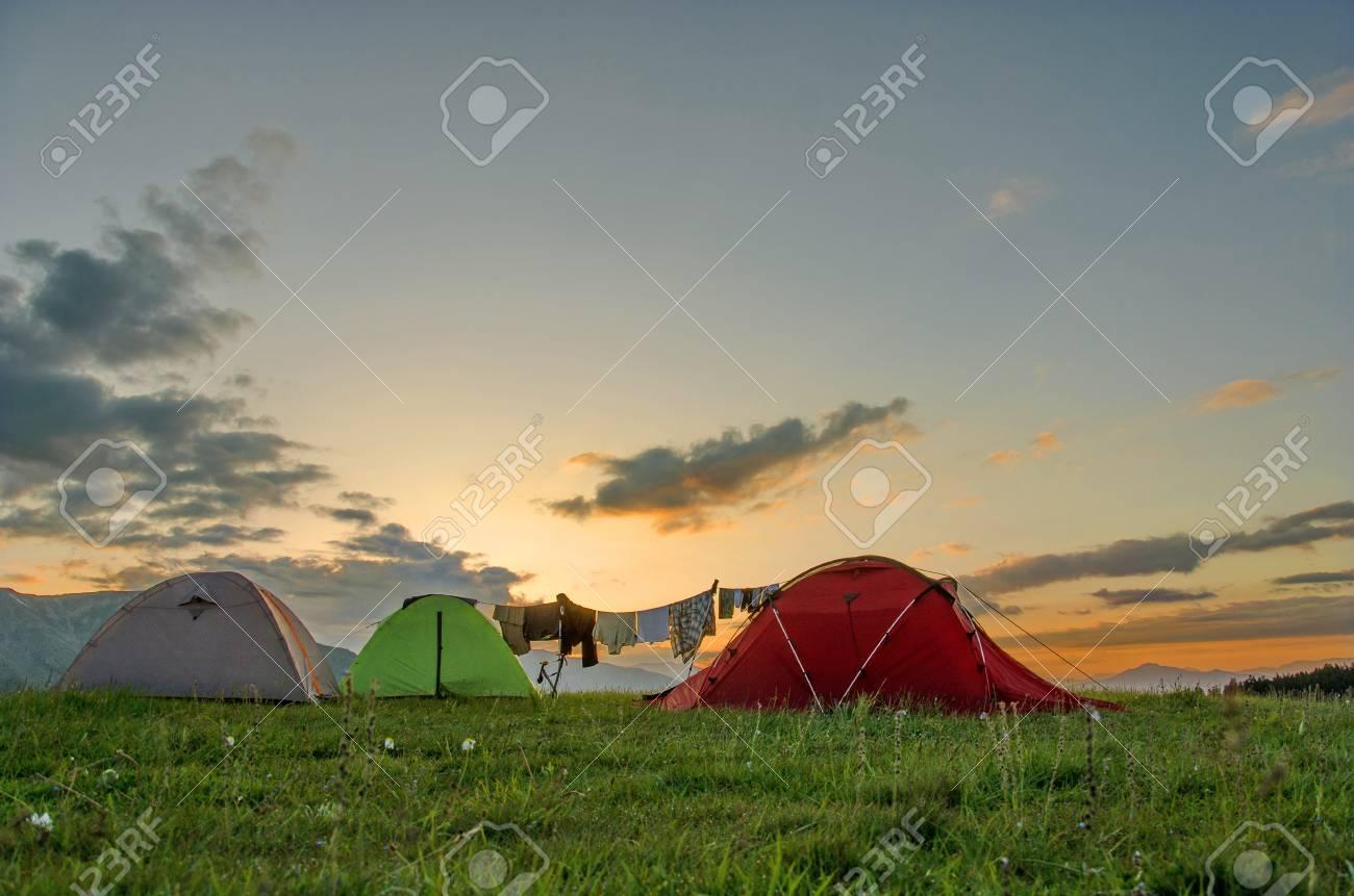 Amanecer Desde Nuestro Campamento En Uno De Los Parajes Más Bellos