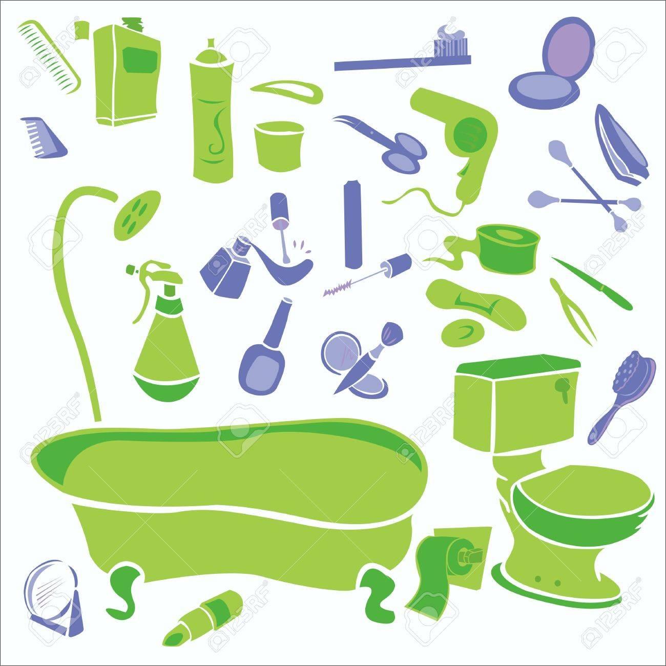 Außergewöhnlich Badezimmer Vector Digitale Clipart Lizenzfreie Bilder   26661701