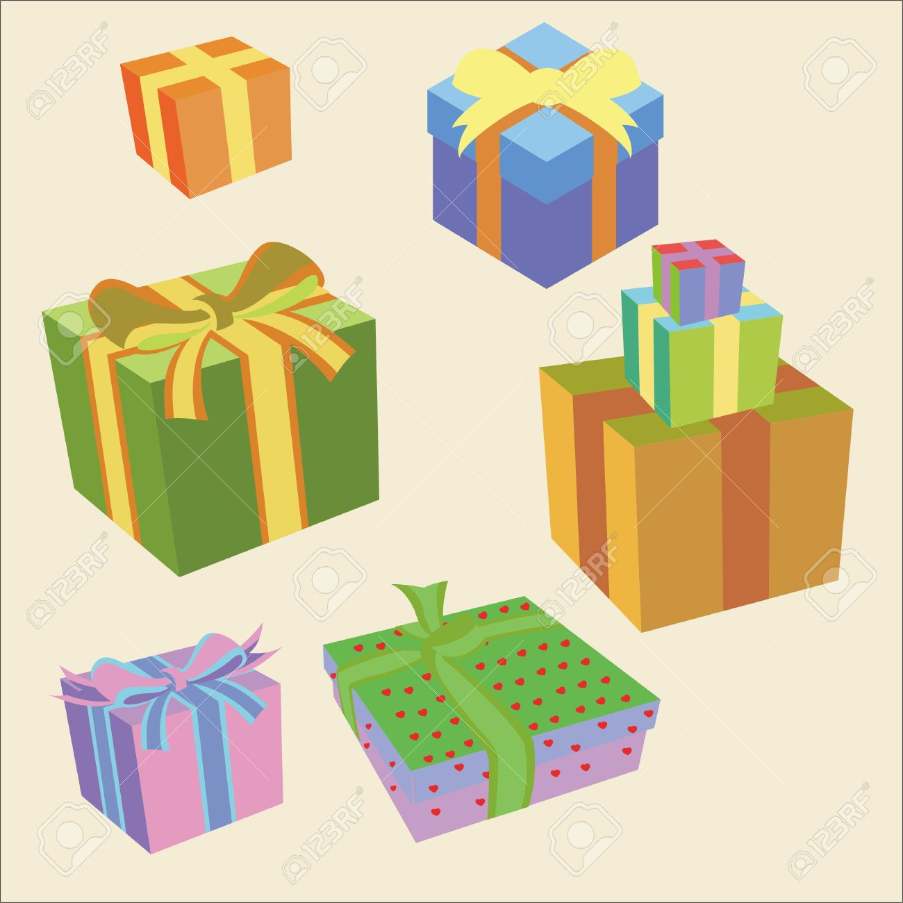 Gift box vector digital clipart 2 royalty free cliparts vectors gift box vector digital clipart 2 stock vector 27509821 negle Image collections