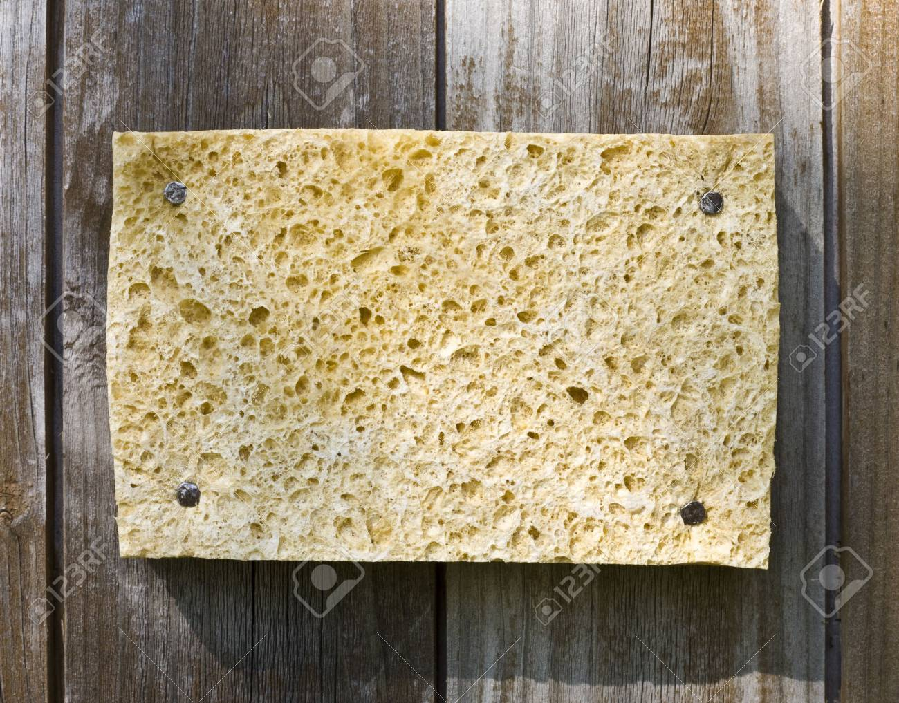 Old Sponge On Wooden Background Stock Photo - 3159763