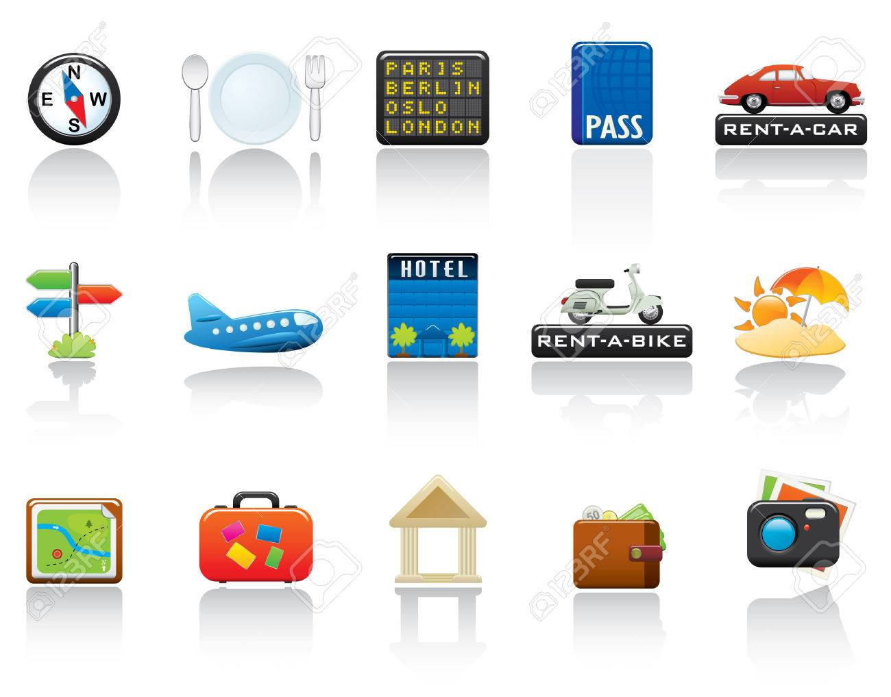 Travel Icon Set. Easy To Edit Vector Image. Stock Vector - 3770275