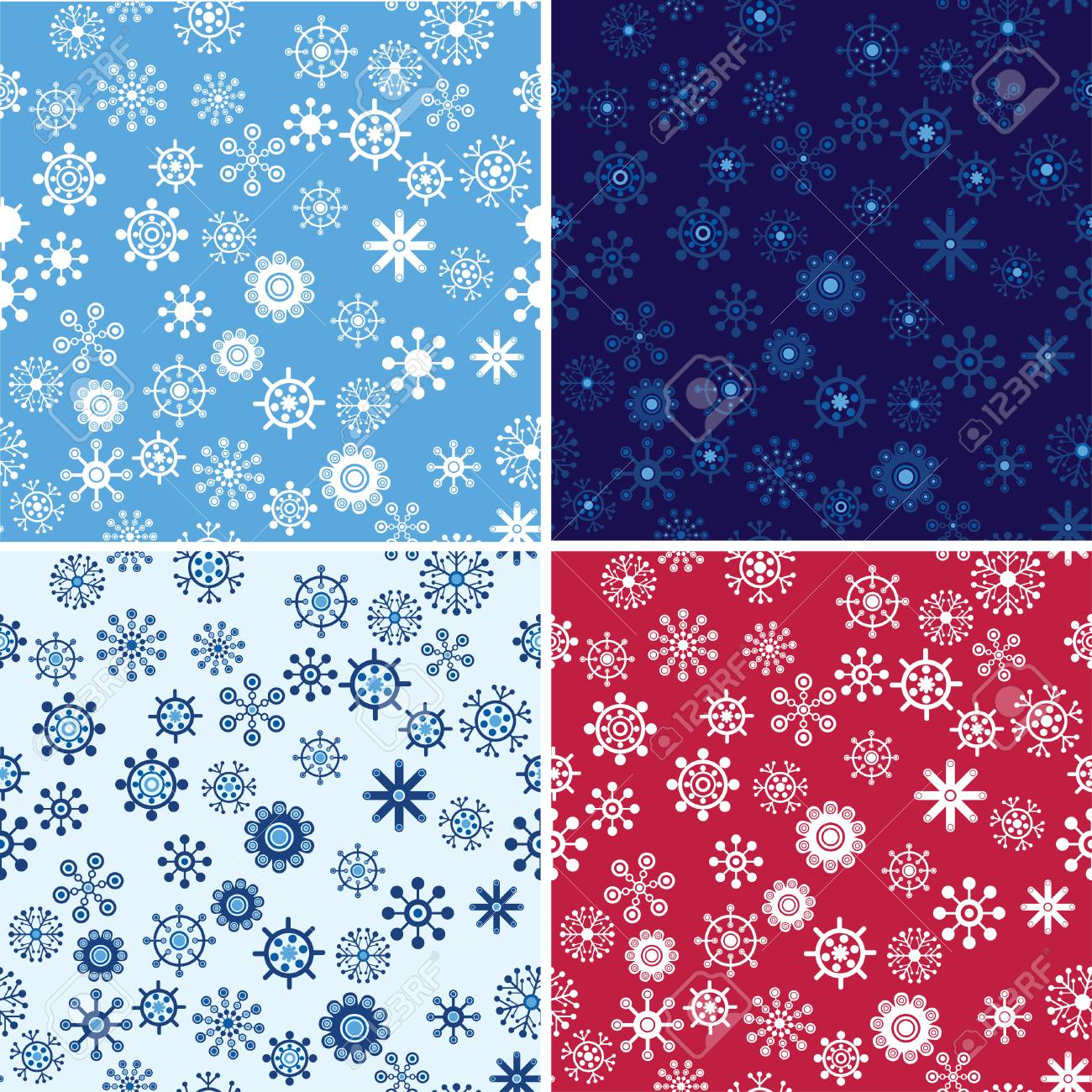 Snow Seamless Vector Background Set. Seamless Backgrounds Series. Stock Vector - 3910665