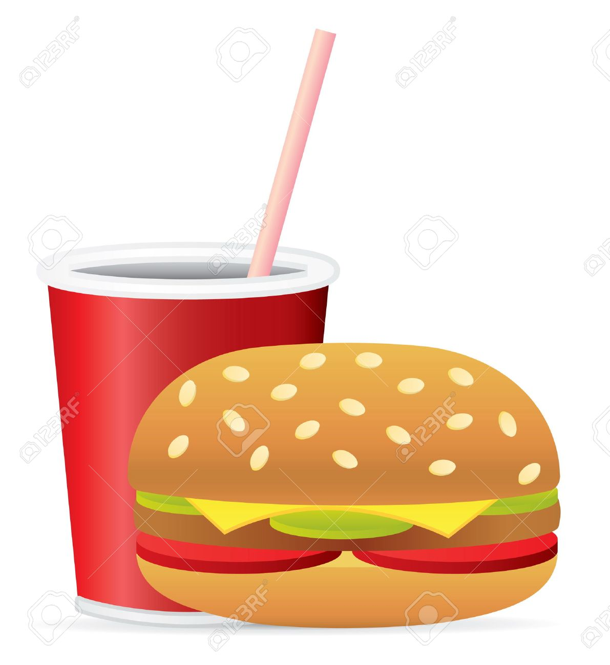 Fast Food Vector Clip Art Stock Vector - 4819918