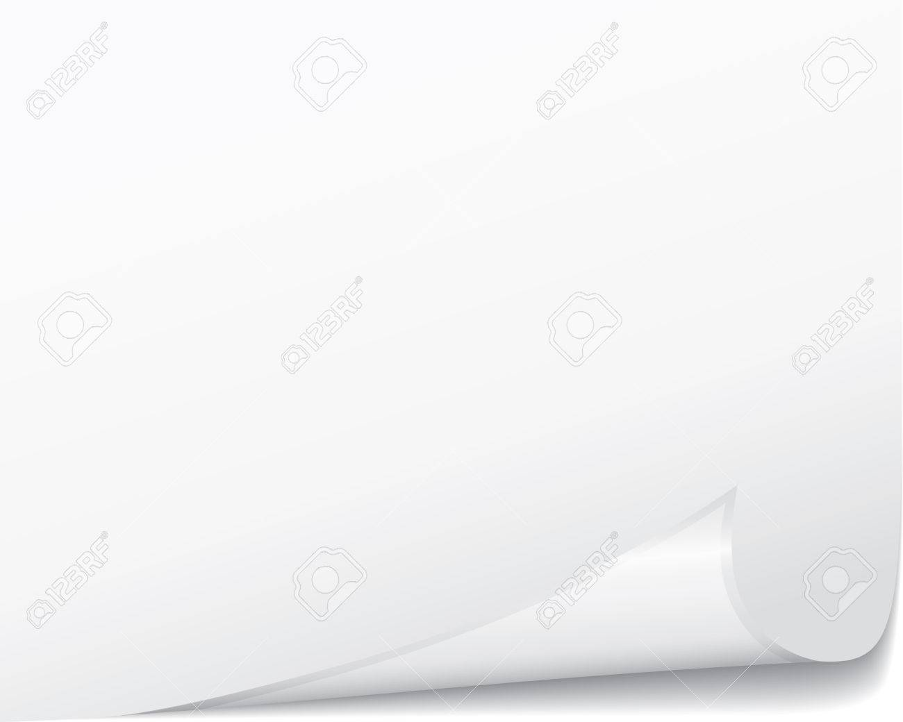 White vector page curled corner. Paper collection. Stock Vector - 5558374