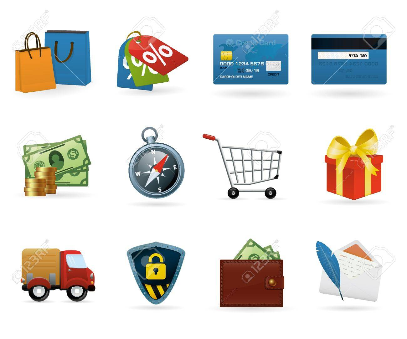 Set of highly detailed vector colorful icons. Stock Photo - 9174248