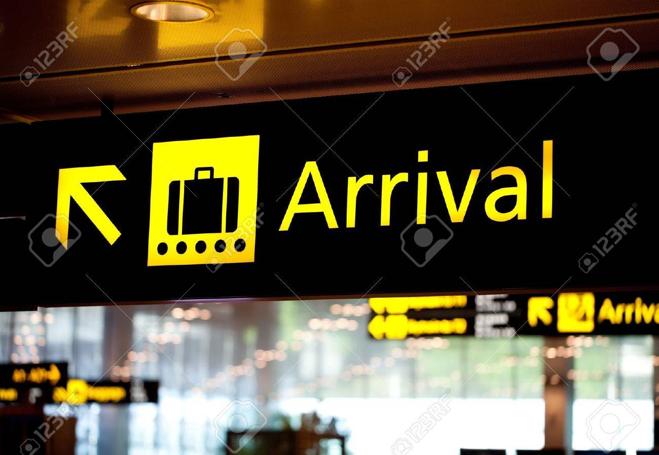 Brightly Light Arrival Airport Information Sign Stock Photo Picture And Royalty Free Image Image 10851797