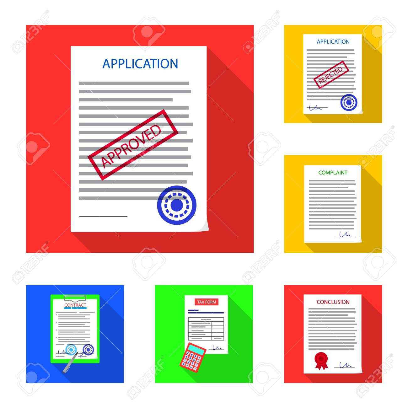 Vector illustration of form and document icon  Set of form and