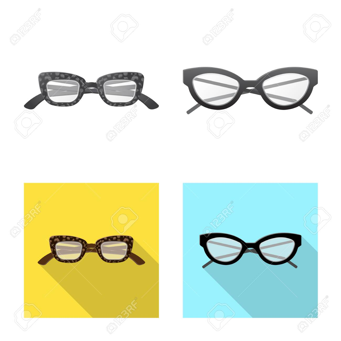 2db6803de315 Vector - Vector design of glasses and frame logo. Collection of glasses and  accessory stock vector illustration.