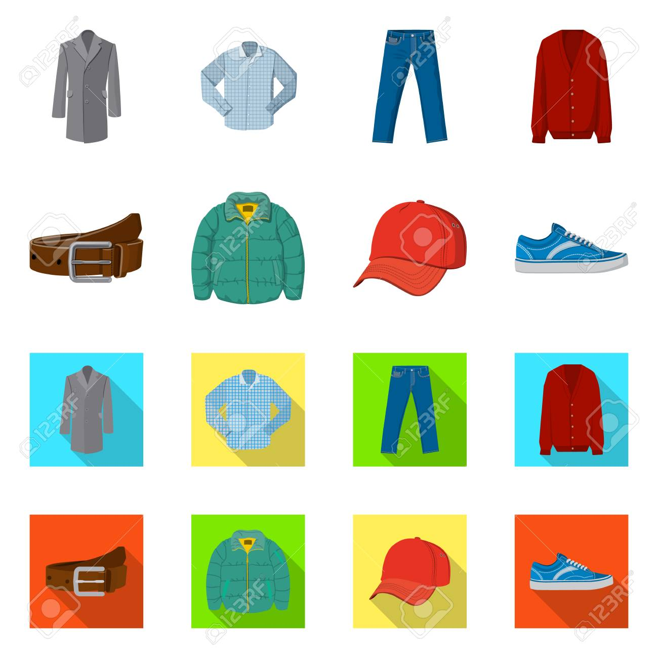 Vector illustration of man and clothing sign. Collection of man and wear vector icon for stock. - 116476534