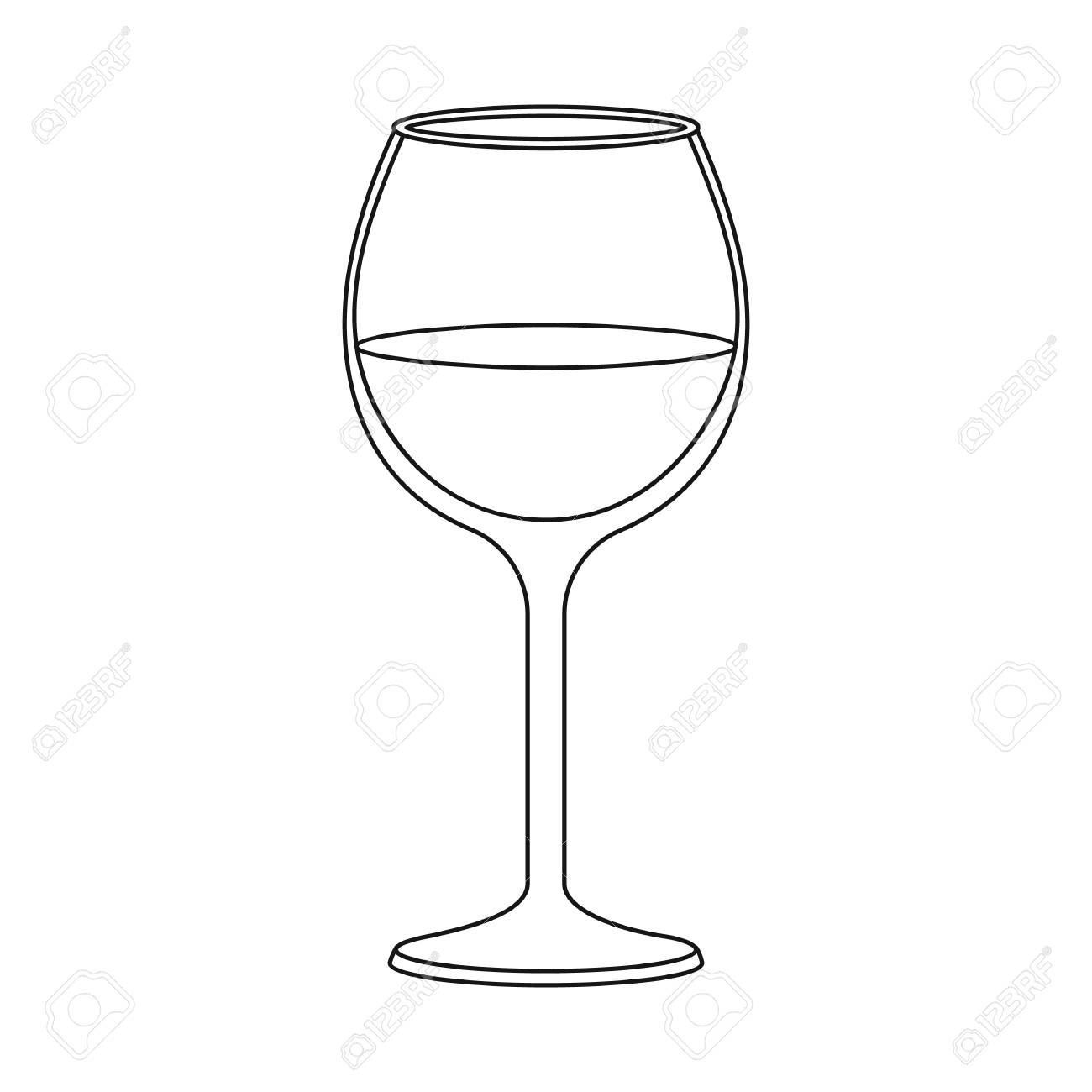 Isolated object of wine and red symbol. Collection of wine and wineglass stock vector illustration. - 120588819