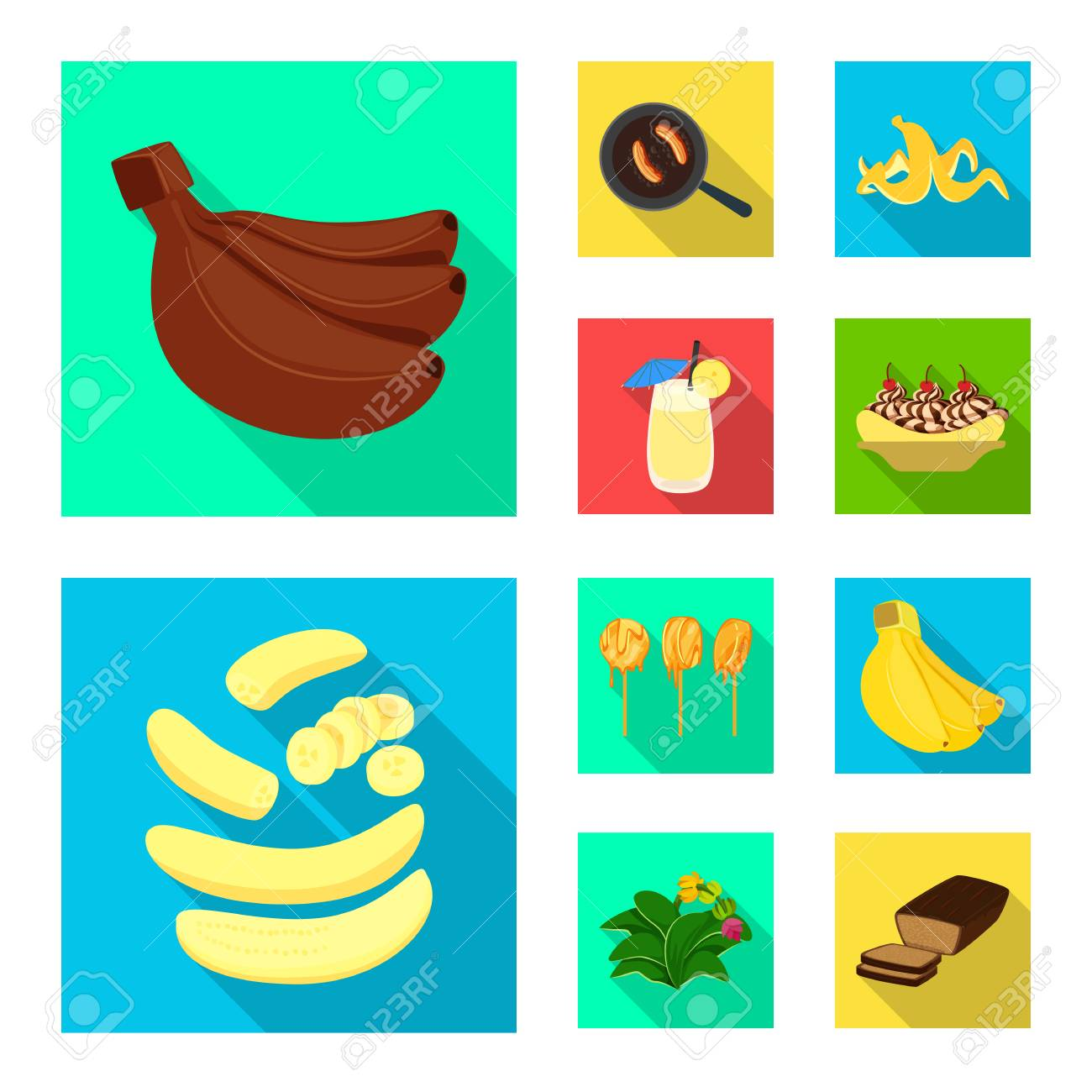 Vector illustration of natural and vegetarian symbol. Set of natural and eating vector icon for stock. - 122899576