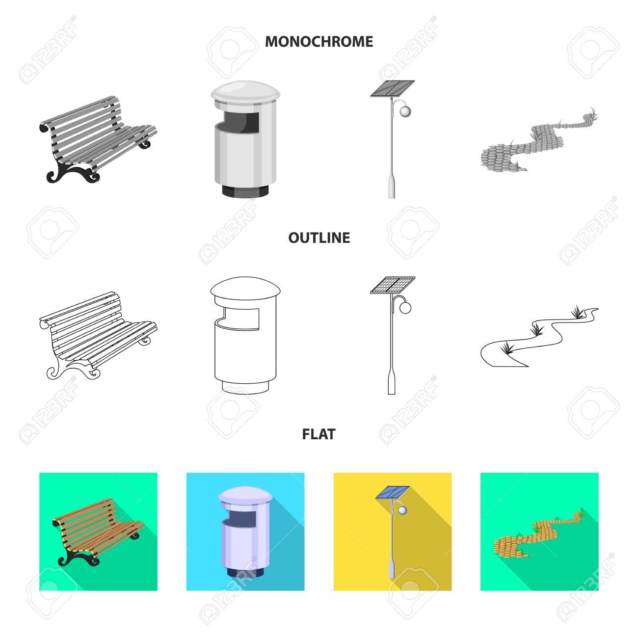Vector illustration of urban and street logo. Collection of urban and relaxation vector icon for stock. - 121592106