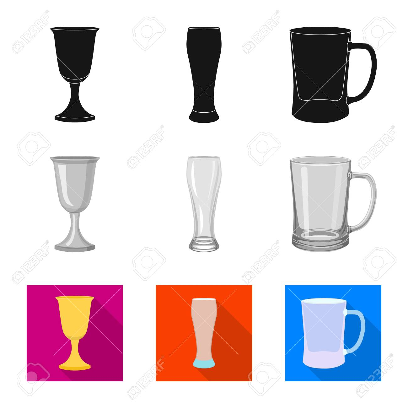 Vector design of form and celebration icon  Set of form and volume