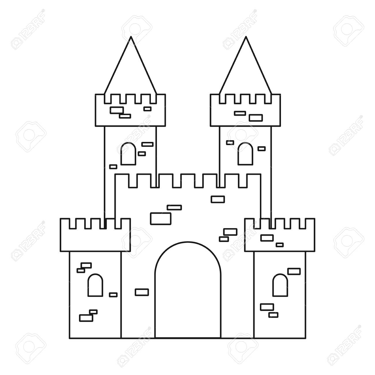 Vector design of castle and fortress icon. Collection of castle and house stock symbol for web. - 127161001