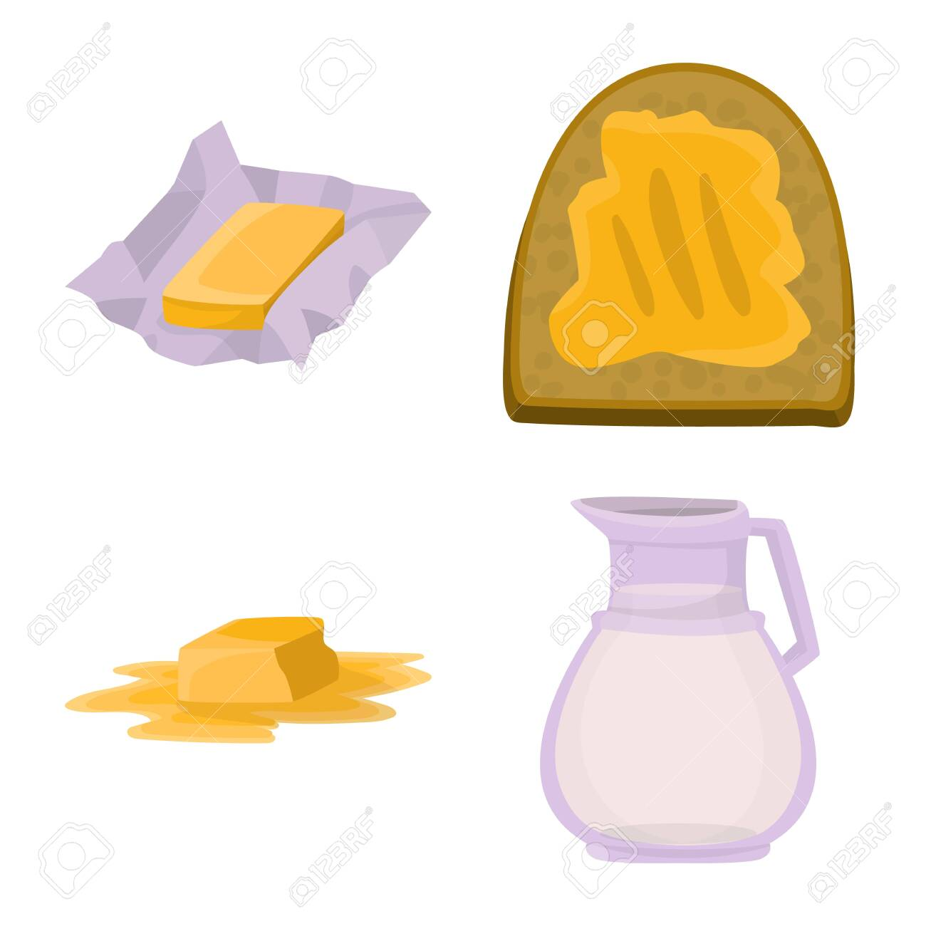 Isolated object of food and dairy icon  Collection of food and
