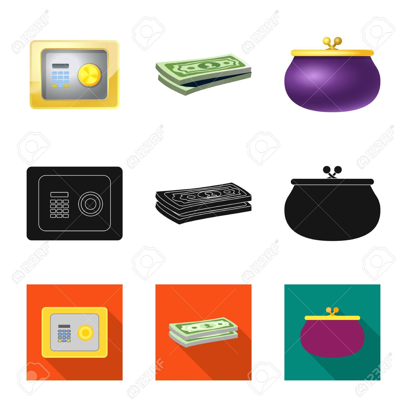 Design On Stock Bank.Bitmap Design Of Bank And Money Logo Collection Of Bank And