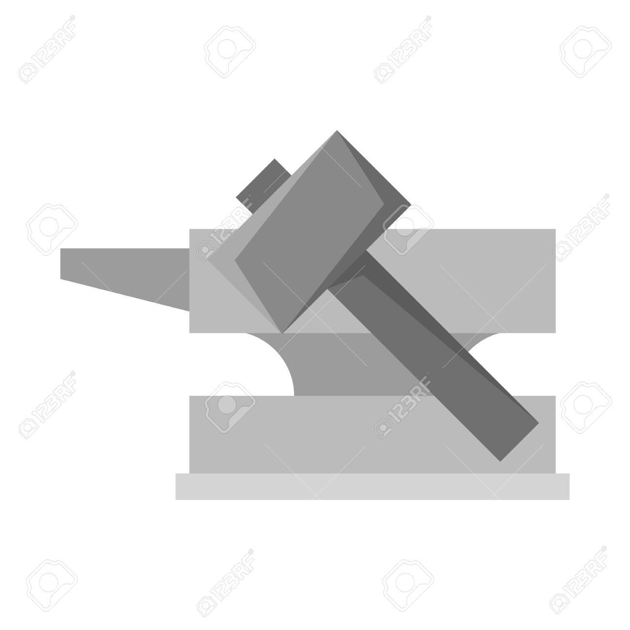 Vector Illustration Of Hammer And Hephaestus Symbol Set Of Hammer