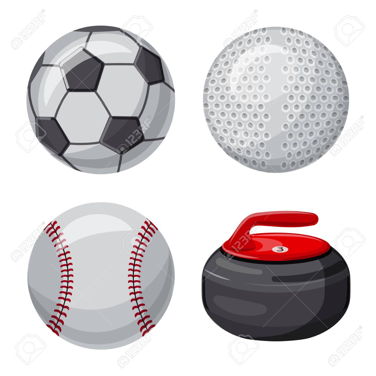 Vector illustration of sport and ball sign. Collection of sport and athletic stock symbol for web. - 130760462