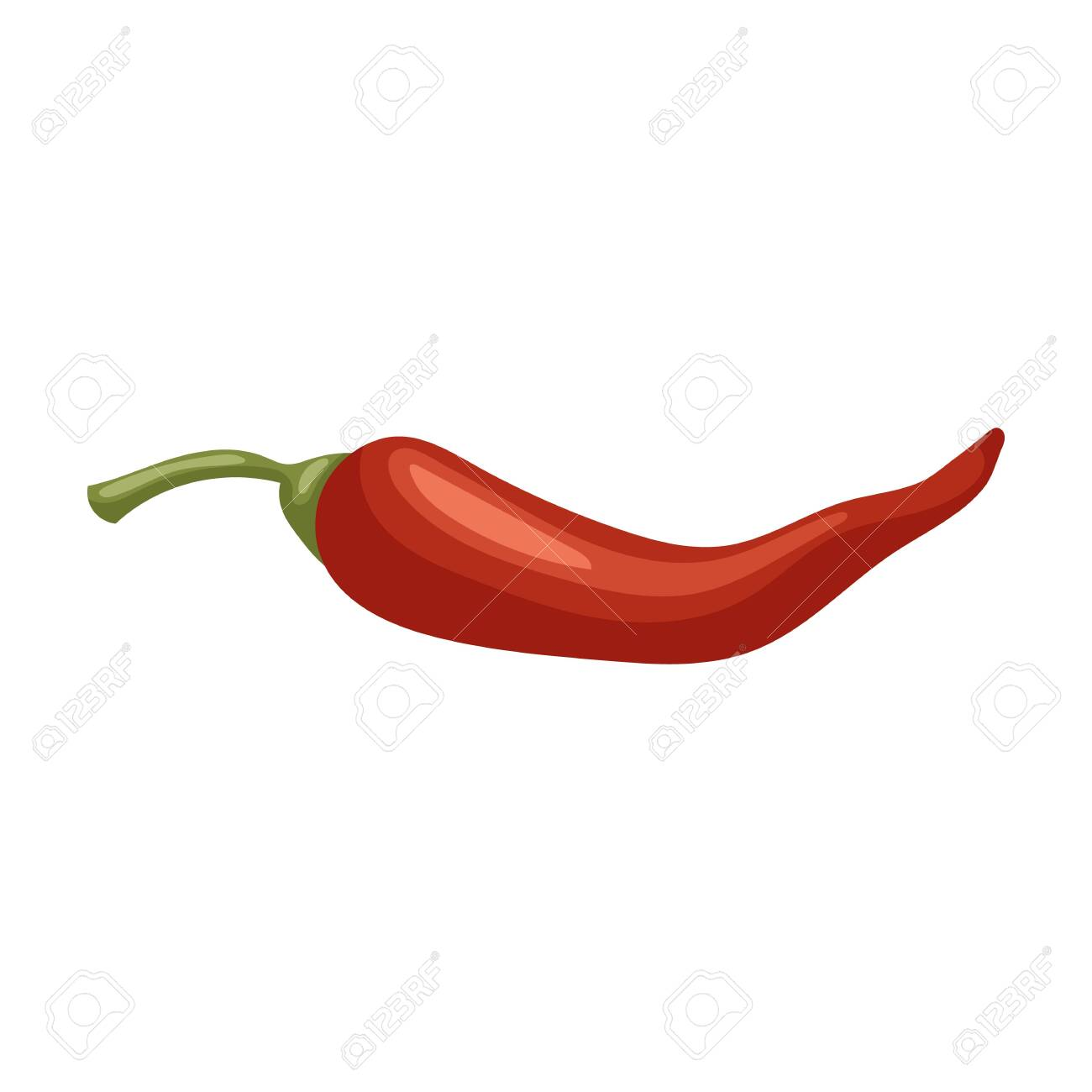 Pepper chili vector icon.Cartoon vector icon isolated on white background pepper chili . - 134927380