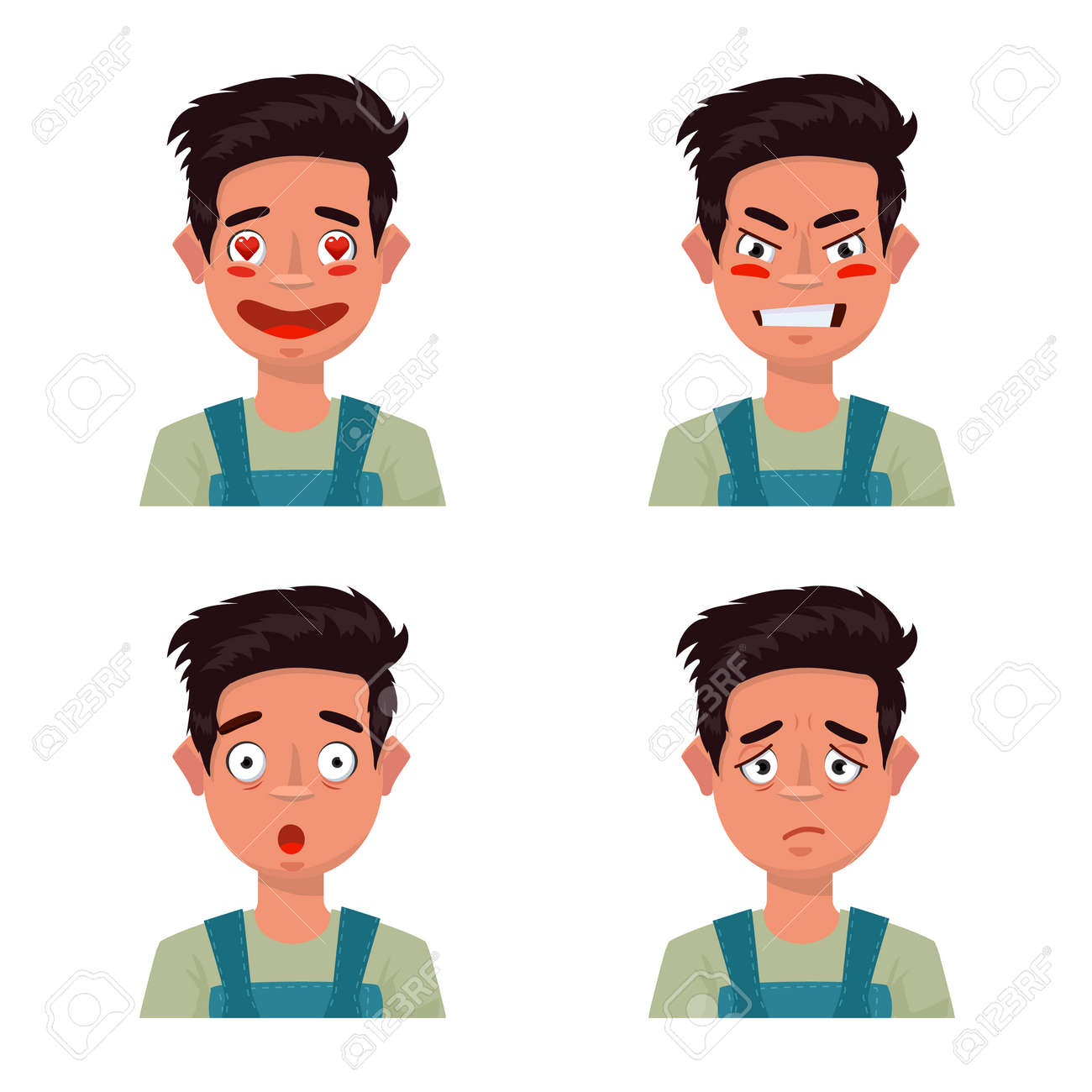 Isolated object of face and boy sign. Collection of face and young vector icon for stock. - 168840959