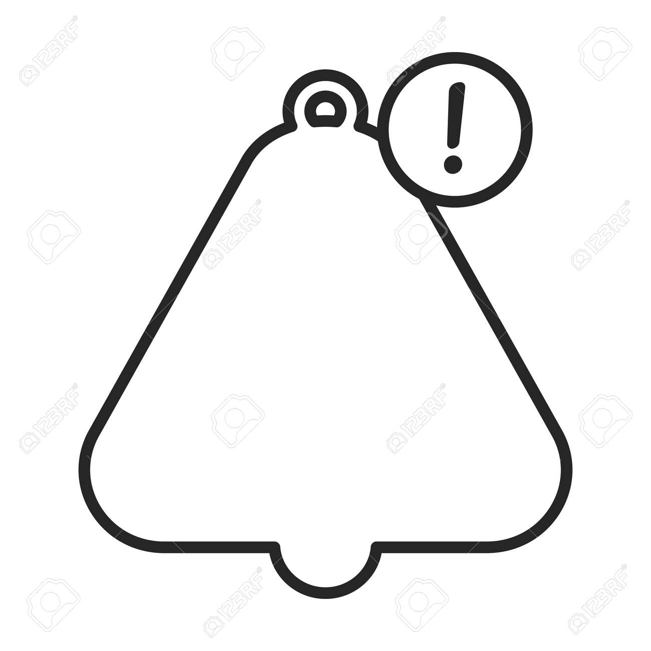 Bell notification vector outline icon. Vector illustration bell notification on white background. Isolated outline illustration icon of alert. - 168840974
