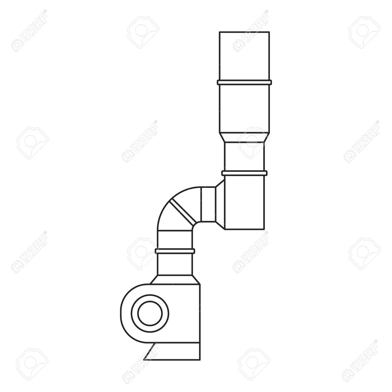Air system vector outline icon. Vector illustration system ventilation, on white background. Isolated outline illustration icon of air ventilation. - 168840995
