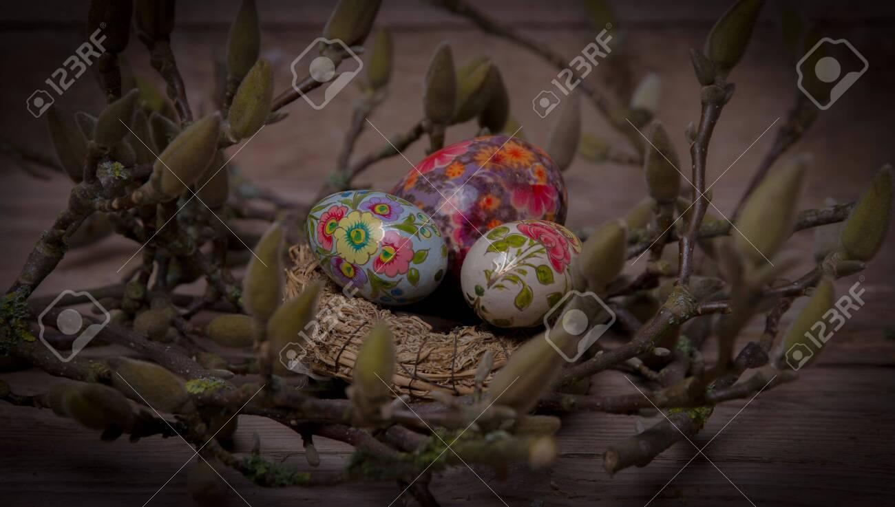 The beautiful Danish Easter decoration - 142639355