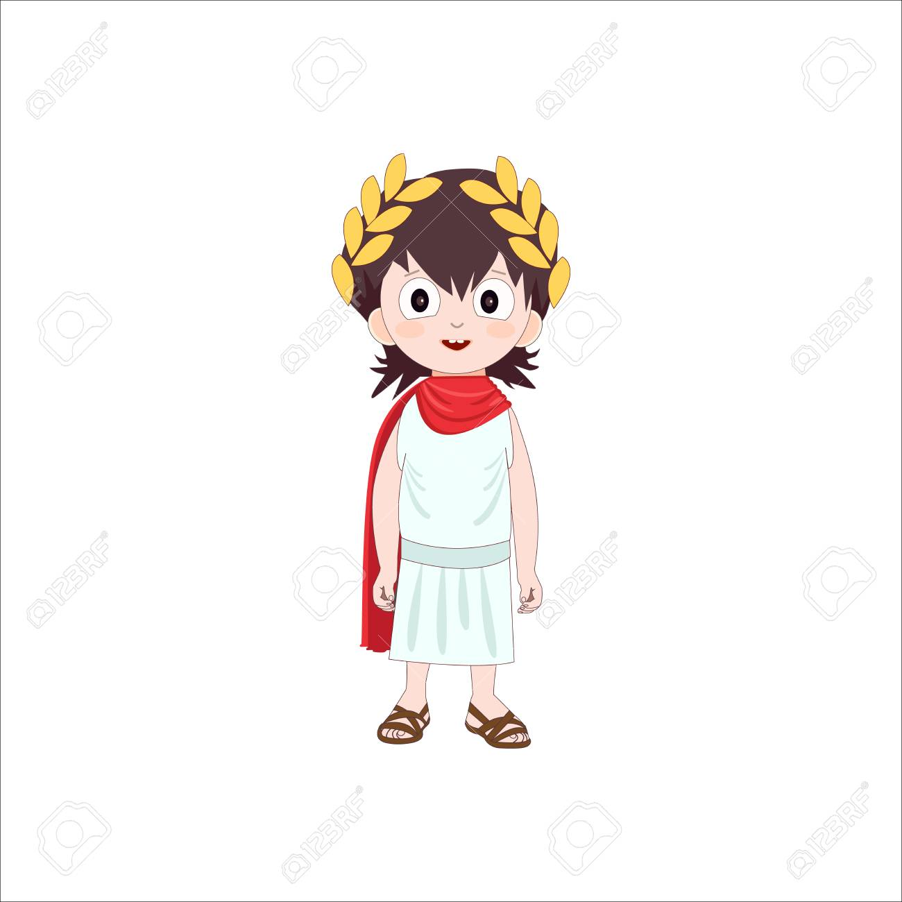 Ancient Rome Cartoon Character Of Boy Wearing Traditional Costume ...