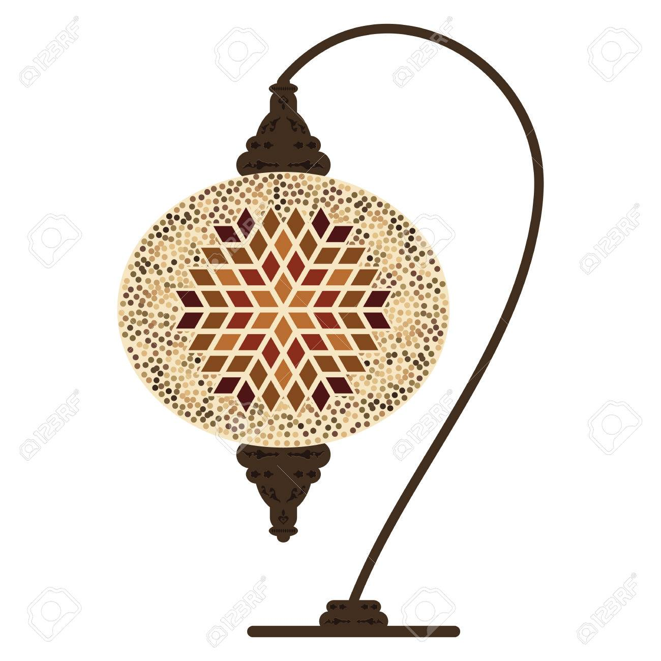 Vector illustration of traditional turkish table lamp with beige vector illustration of traditional turkish table lamp with beige ornamental design 60720359 mozeypictures Image collections