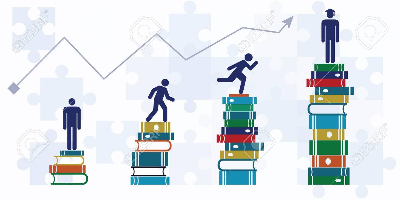 vector illustration of horizontal banner with student growth rh 123rf com Church Growth Clip Art Business Clip Art