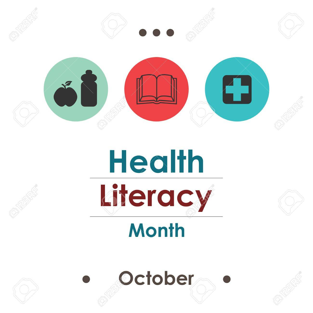 vector illustration for Health Literacy Month in october - 85334887