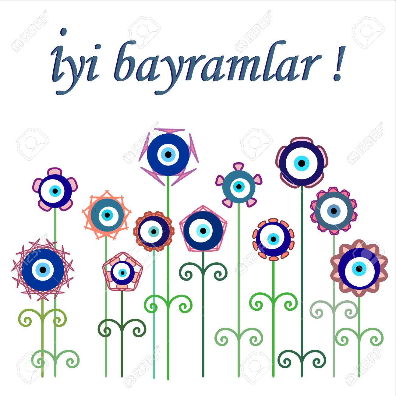 Greeting card for bayram holiday best holiday wishes written greeting card for bayram holiday best holiday wishes written on a card with flower styled m4hsunfo