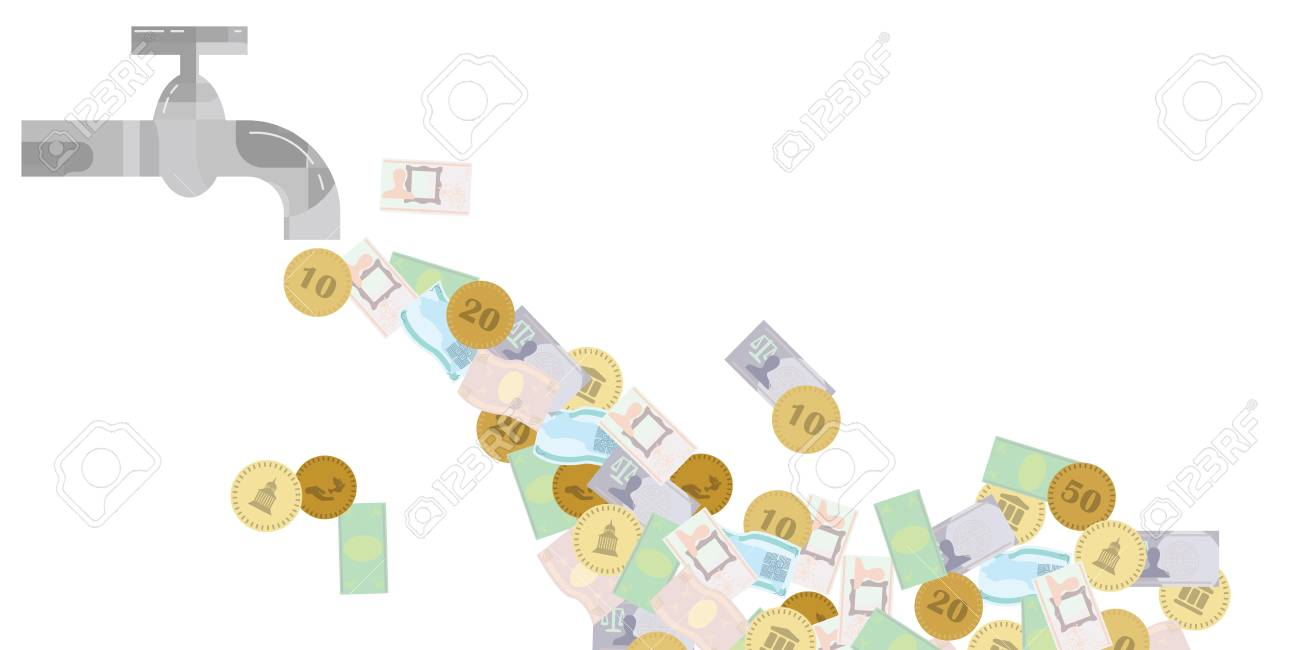 Vector Illustration Of Tap And Money Flow For Business Ideas Royalty Free Cliparts Vectors And Stock Illustration Image 99271174