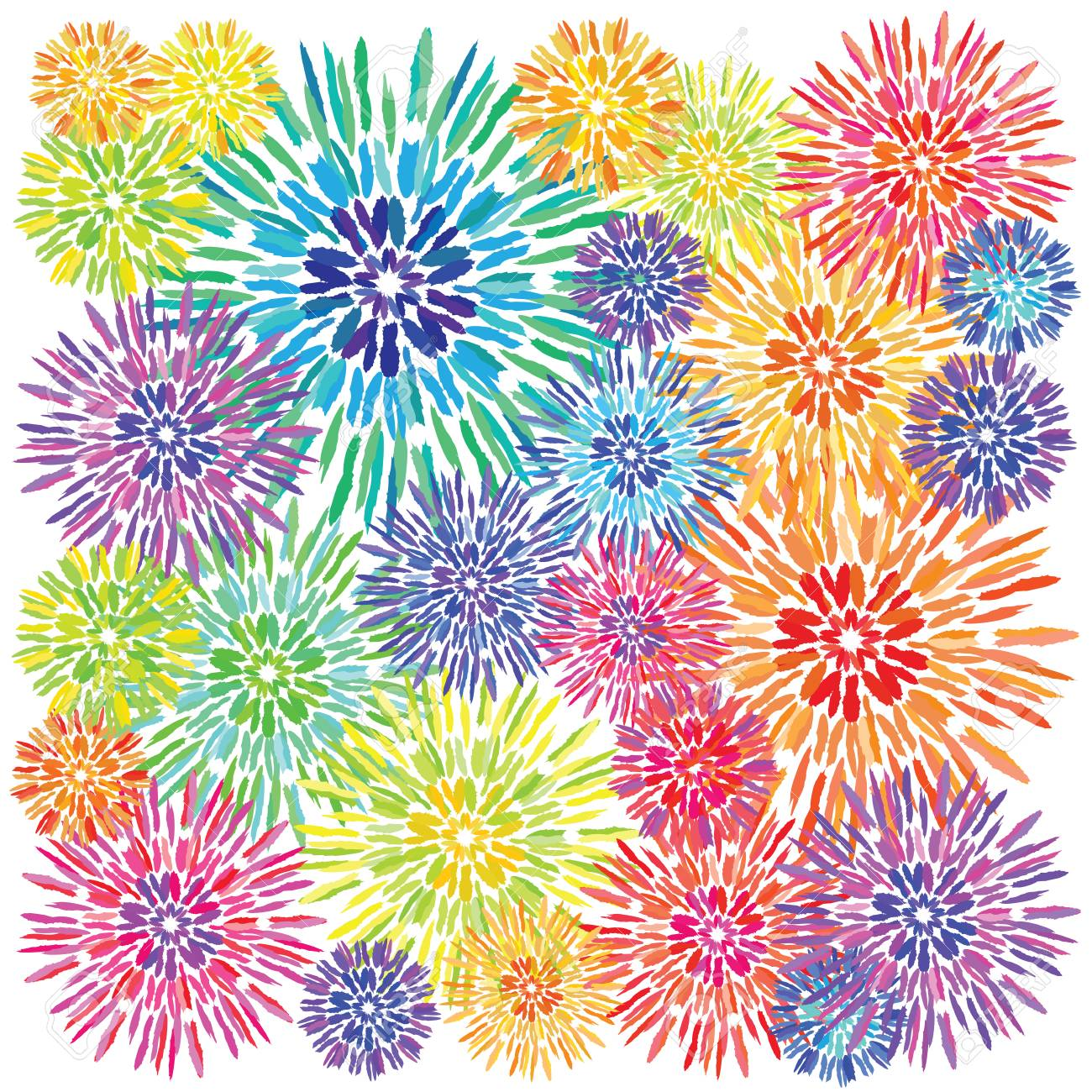 cc6480e61 Vector - vector illustration / tie dye colorful background / rainbow colored  concentric circles made with brush strokes